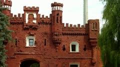 The Kholmsky gate at the Brest Fortress in Brest, Belarus. Stock Footage