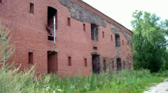 Bialystok wall at the Brest Fortress in Brest, Belarus. (barrack) Stock Footage