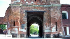 Terespol gate at the Brest Fortress in Brest, Belarus. Stock Footage