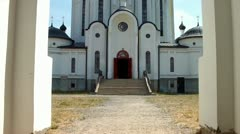 "Ivatsevichi, Belarus. Church of Our Lady of the ""Reigning"". Stock Footage"