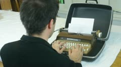 Type writer typing retro Stock Footage