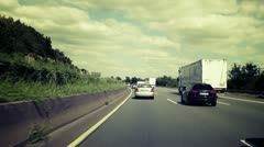Time lapse of german motorways A66 and A3 Stock Footage