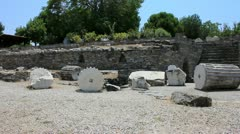 Ruins of The Mausoleum at Halicarnassus in Bodrum, Turkey Stock Footage