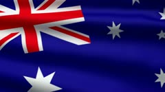 Australian flag Stock Footage