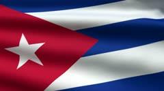 Cuban flag Stock Footage