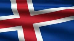 Iceland flag Stock Footage