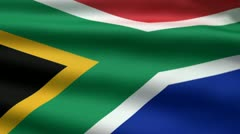 South African flag, 3d animation. perfect seamless loop Stock Footage
