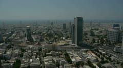 Tel Aviv panorama electra 3 Stock Footage