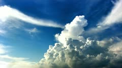 Cumulus clouds time lapse hdr Stock Footage