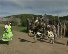 African's in traditional clothes Stock Footage