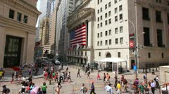Wall Street and Stock Exchange Stock Footage
