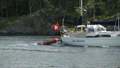 Swiss yacht in Sweden Stock Footage
