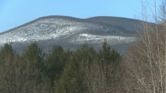 Catskill Mountain in Winter Stock Footage