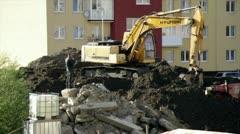 excavator - stock footage