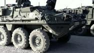 Stock Video Footage of Stryker Battalion