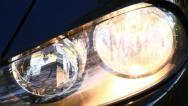 Stock Video Footage of Car headlights flashing
