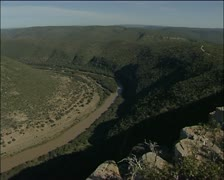 A river and hills Stock Footage