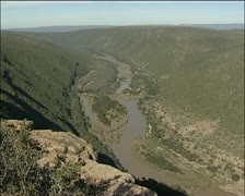 Eastern Cape gorge and river in Africa - stock footage