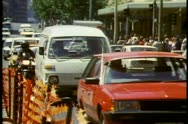 Sydney Downtown, Sydney, Australia, traffic, medium close up, crushed shot Stock Footage