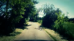 Driving on a country road - cameracar timelapse - stock footage