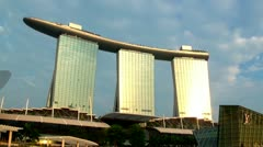 Singapore Stock Footage: Marina Bay Sands to ArtScience Museum Stock Footage