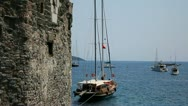 View of Sea from Bodrum Castle Of The Knights of St.John Stock Footage