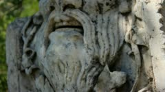 Stone Statues in the Garden of The Bodrum Castle Stock Footage