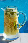 Lemonade Poolside Stock Photos