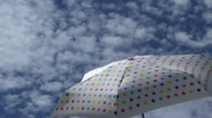 Umbrella Sunny Day Time Lapse Stock Footage