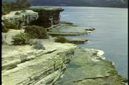 Seacliff on the coast of Tasmania, Australia Stock Footage