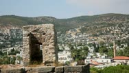 View from the Bodrum Castle of the Knights of St. John Stock Footage
