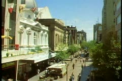 Adelaide, Australia, downtown, Rundle Mall, medium wide shot Stock Footage
