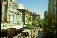 Stock Video Footage of Adelaide, Australia, downtown, Rundle Mall, medium wide shot