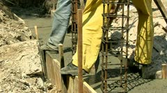 Concreting 25 fps 22 - stock footage