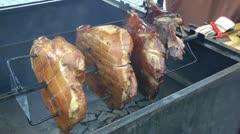 BBQ Pork Stock Footage