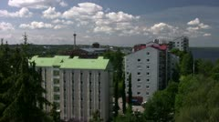 Tampere Rauhaniemi Roof 001 Stock Footage