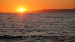 Sunset at Sea Stock Footage