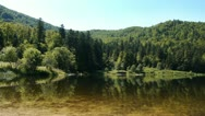 Lake and mountains in France Stock Footage
