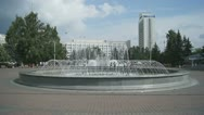 Stock Video Footage of Krasnoyarsk City Fountain 01