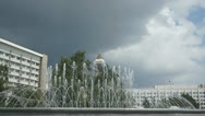 Stock Video Footage of Krasnoyarsk City Fountain 03