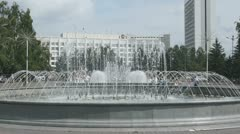Krasnoyarsk City Fountain 02 Stock Footage