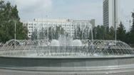 Stock Video Footage of Krasnoyarsk City Fountain 02