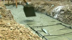 Concreting 30 fps 14 - stock footage