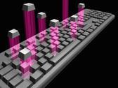 Computer keyboard, artwork Stock Illustration