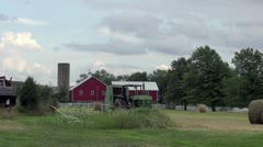 Farm with equipment Stock Footage