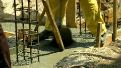 Concreting 25 fps 04 - stock footage