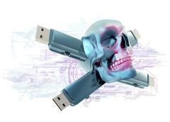 Stock Illustration of computer virus, conceptual artwork