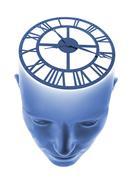 Biological clock, conceptual artwork Stock Illustration