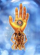Cyborg, conceptual artwork Stock Illustration