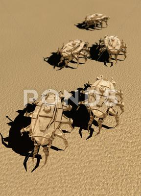 Stock Illustration of nanorobot army, artwork